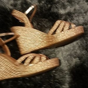 Bamboo wedges Rose Gold